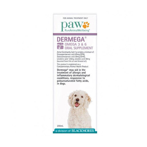 PAW Dermega Omega 3 6 Oral Supplement - Naturopet