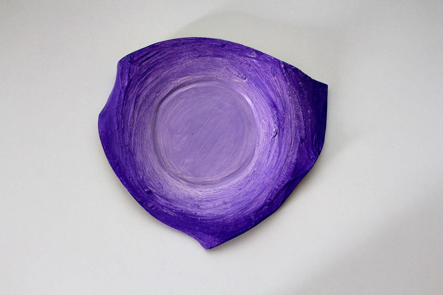 Ceramic Purple Plate