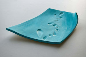 Teal Rectangle Ceramic Plate