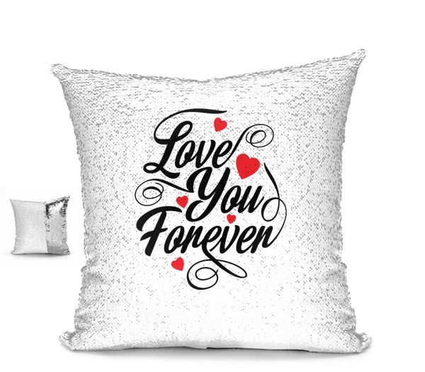 Love You Forever Sequin Pillow