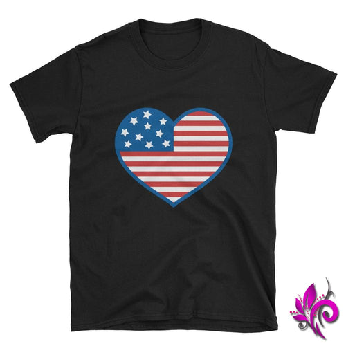 4th of July Heart Black / S