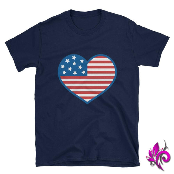 4th of July Heart Navy / S