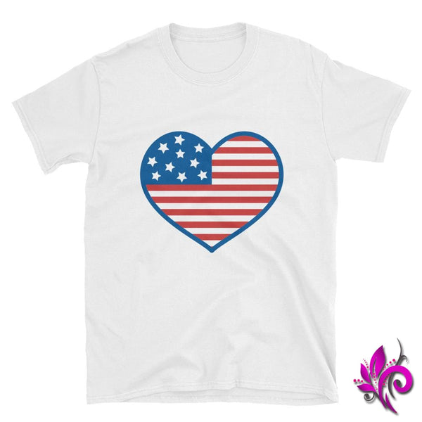 4th of July Heart White / S