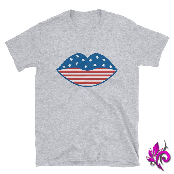 4th of July Lips Sport Grey / S Express Tee