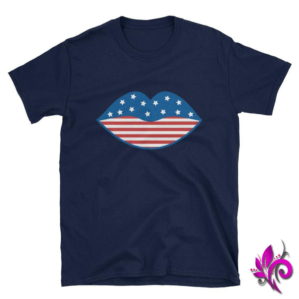 4th of July Lips Navy / S Express Tee