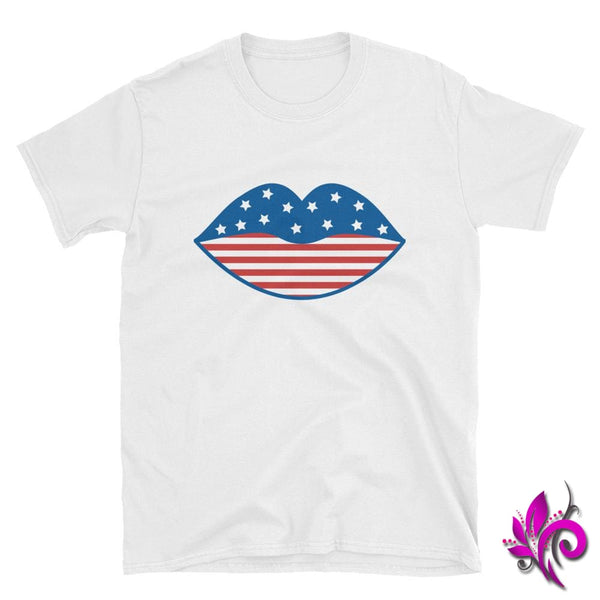 4th of July Lips White / S Express Tee