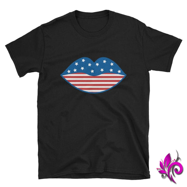 4th of July Lips Black / S Express Tee