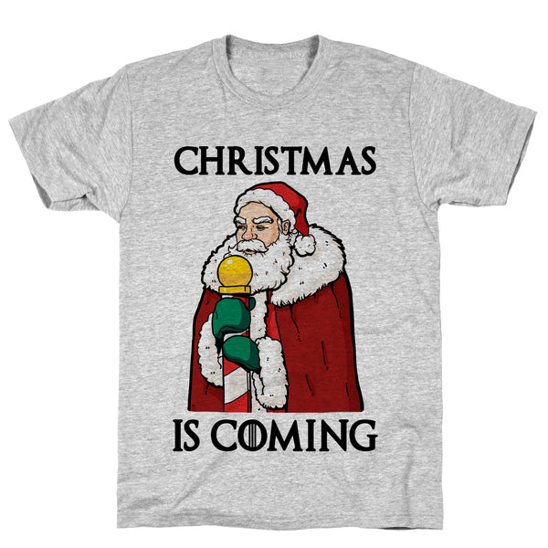 Christmas is Coming Athletic Gray Unisex Cotton Tee