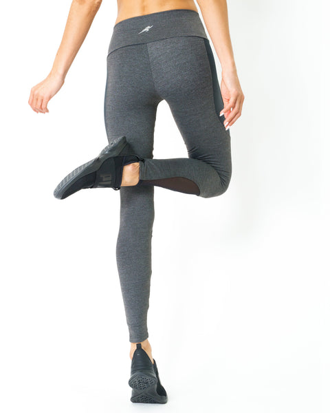 Fantastica Compression Leggings with Supplex Fabric and Cut-Out Mesh Panels