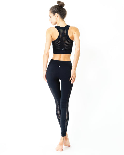Milano Seamless Sports Bra - Black