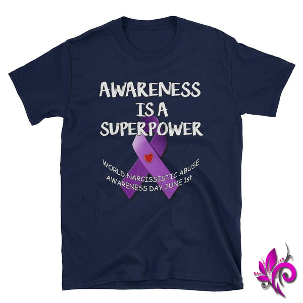 Awareness Is A Superpower Navy / S Express Tee