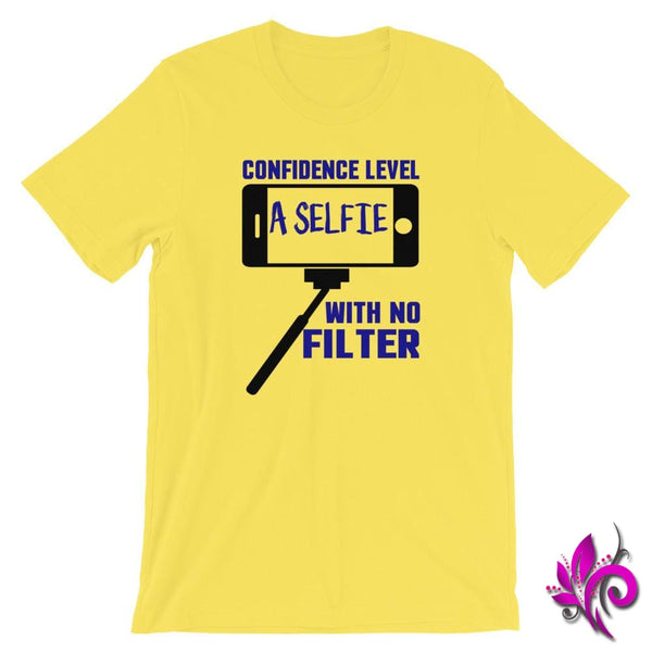Confidence Level...A Selfie Yellow / S Chicks