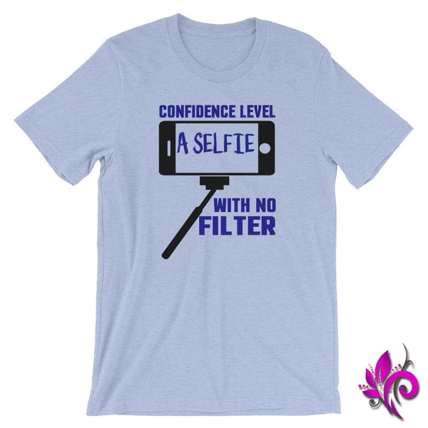 Confidence Level...A Selfie Heather Blue / S Chicks