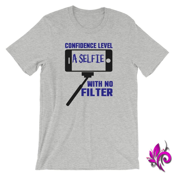 Confidence Level...A Selfie Athletic Heather / S Chicks