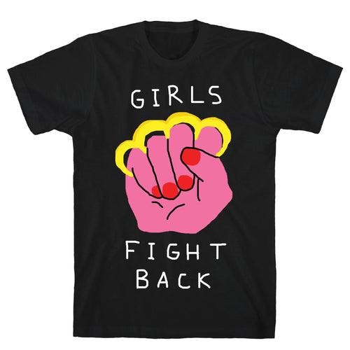 Girls Fight Back Black Unisex Cotton Tee