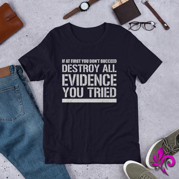 Destroy All Evidence You Tried Navy / S Express Tee