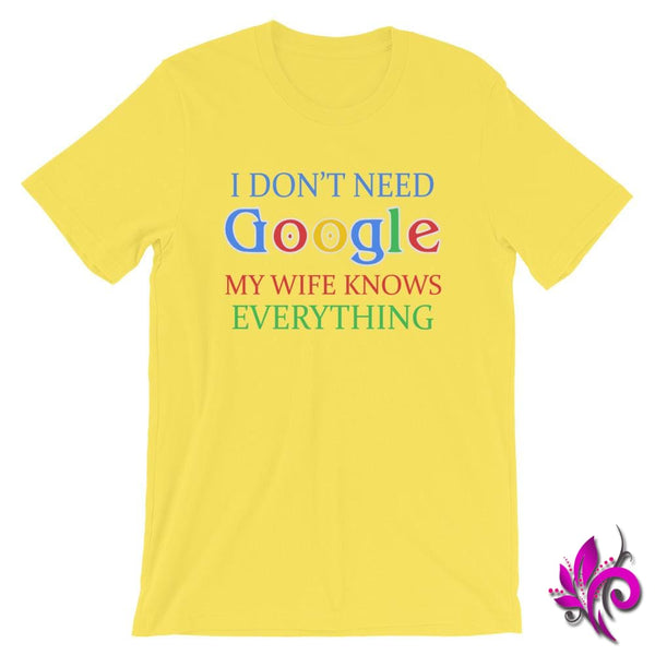 I Dont Need Google Yellow / S Dudes