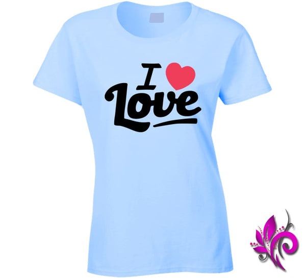 I Love Love Ladies / Light Blue / Small Express Tee