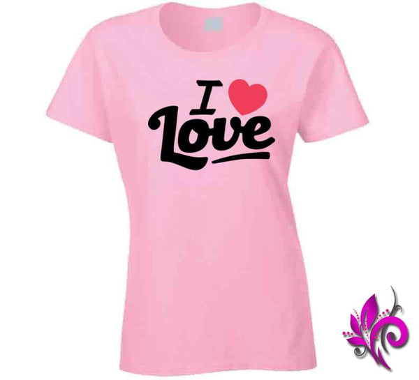 I Love Love Ladies / Light Pink / Small Express Tee