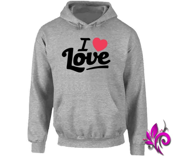 I Love Love Hoodie / Sport Grey / Small Express Tee