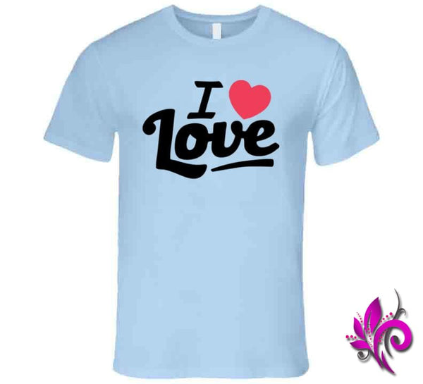 I Love Love Premium / Light Blue / Small Express Tee