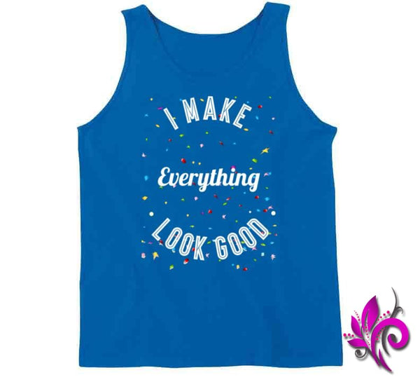 I Make Everything Look Good Tanktop / Royal Blue / Small Express Tee