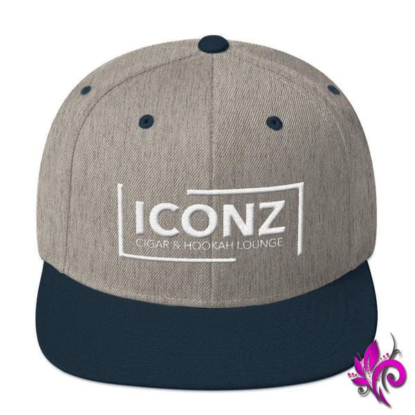 ICONZ Snapback Hat Heather Grey/ Navy ICONZ