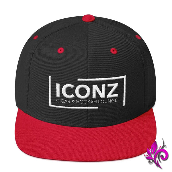 ICONZ Snapback Hat Black/ Red ICONZ