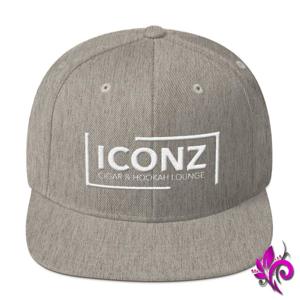 ICONZ Snapback Hat Heather Grey ICONZ