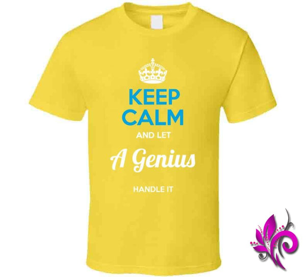 Keep Calm And Let A Genius Handle It Classic / Daisy / Small T-Shirt