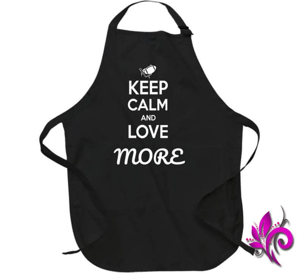 Keep Calm And Love More Apron / Black / Large T-Shirt