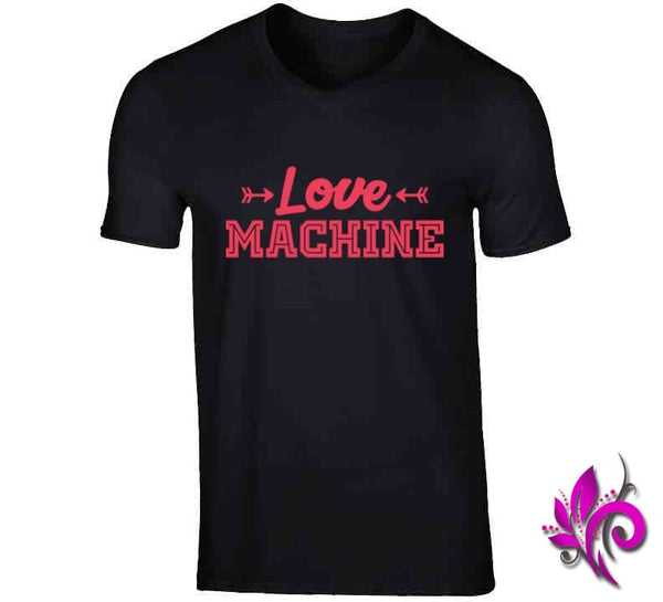 Love Machine V-Neck / Black / Small Express Tee