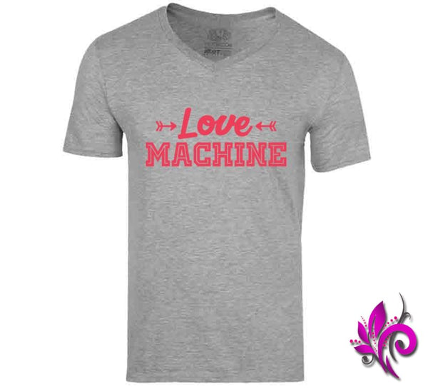 Love Machine V-Neck / Sport Grey / Small Express Tee