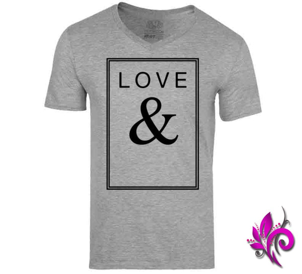 Love & V-Neck / Sport Grey / Small Express Tee