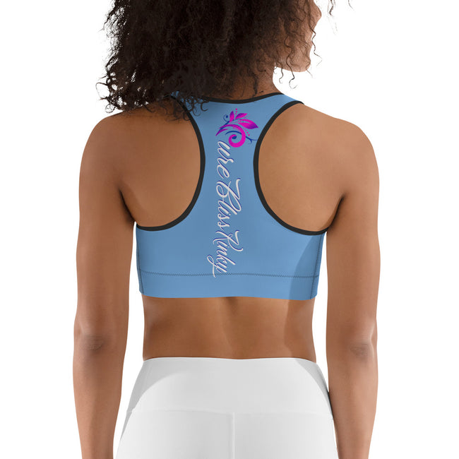 Pure Bliss Kinky (Baby Blue) All-Over Print Sports Bra