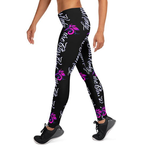 Pure Bliss Kinky (Black) All-Over Print Leggings
