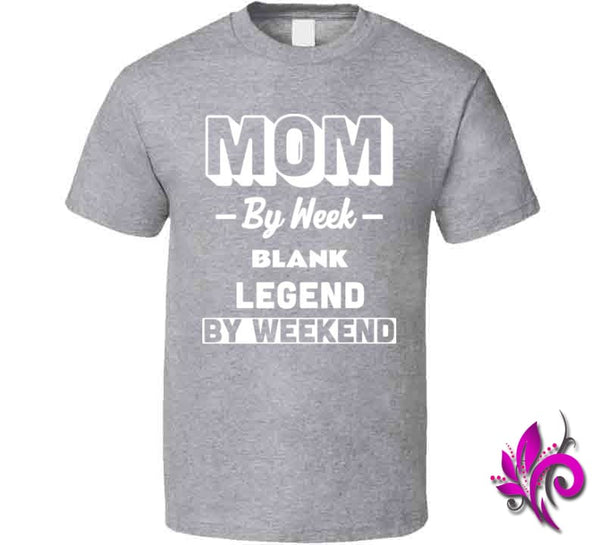 Mom By Week Blank Legend By Weekend Classic / Sport Grey / Small Chicks