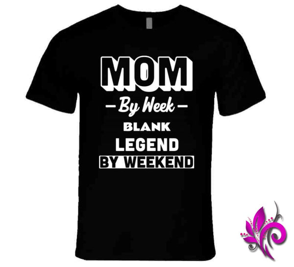 Mom By Week Blank Legend By Weekend Premium / Black / Small Chicks