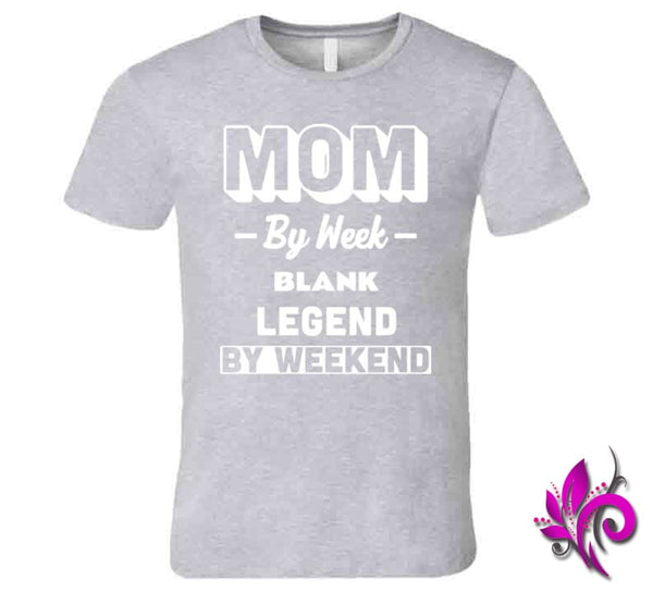 Mom By Week Blank Legend By Weekend Premium / Sport Grey / Small Chicks