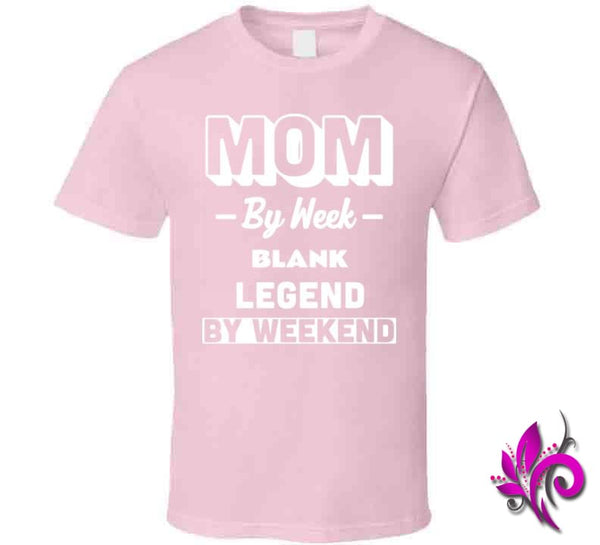 Mom By Week Blank Legend By Weekend Classic / Light Pink / Small Chicks
