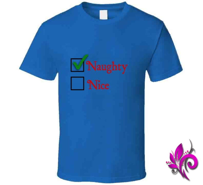 Naughty Or Nice Classic / Royal Blue / Small Express Tee
