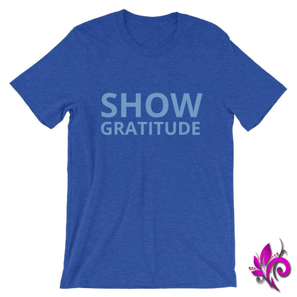 Show Gratitude Heather True Royal / S Express Tee