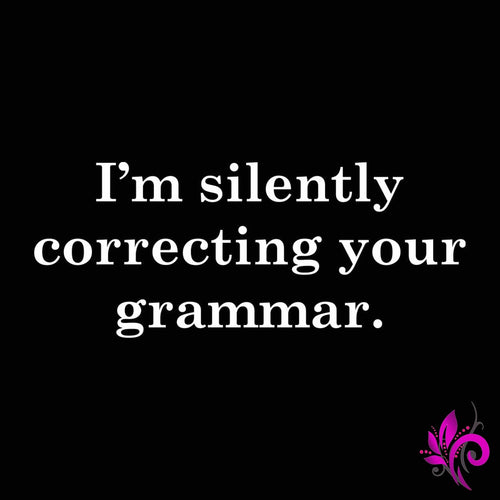 Silently Correcting Your Grammar Tank Top Express Tee
