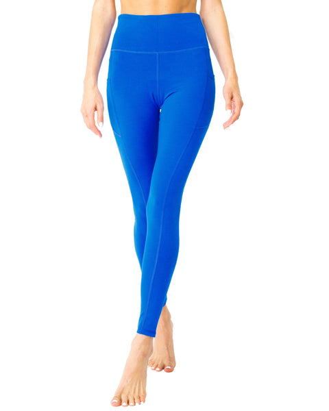 High Waisted Yoga Leggings - Sky Blue