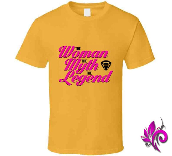 The Woman The Myth The Legend Classic / Gold / Small T-Shirt