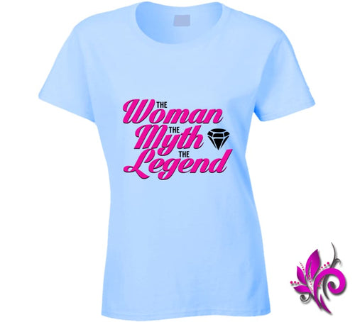 The Woman The Myth The Legend Ladies / Light Blue / Small T-Shirt