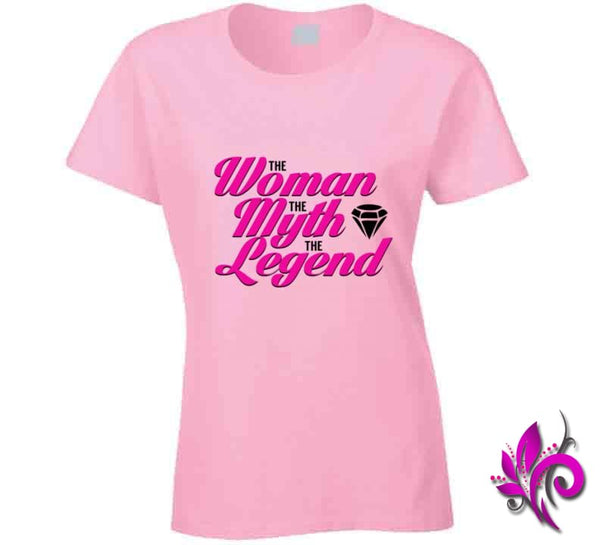 The Woman The Myth The Legend Ladies / Light Pink / Small T-Shirt