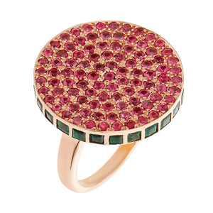 Spinel Emerald Candy Ring - Thin