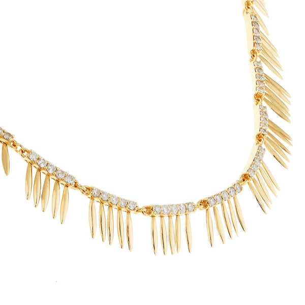 Grass Sunny Leaves Necklace Υ-Lchd