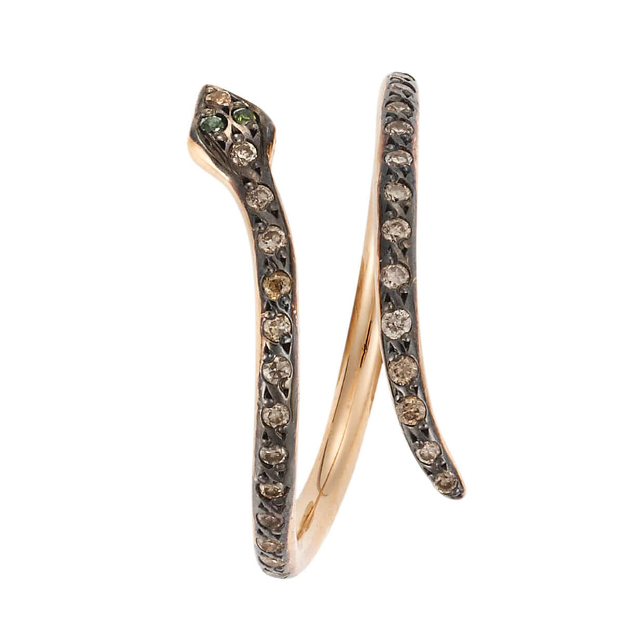 Small Python Ring P-Chd-Green D